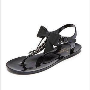 Kate Spade Black Thong Jelly Sandals
